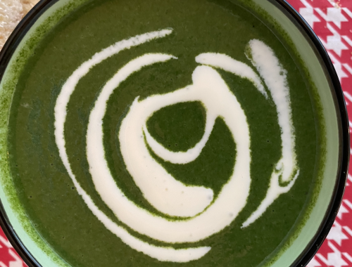 Photograph of Cream Of Spinach Soup