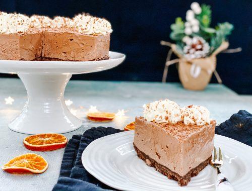 Photograph of Chocolate Orange Cheesecake